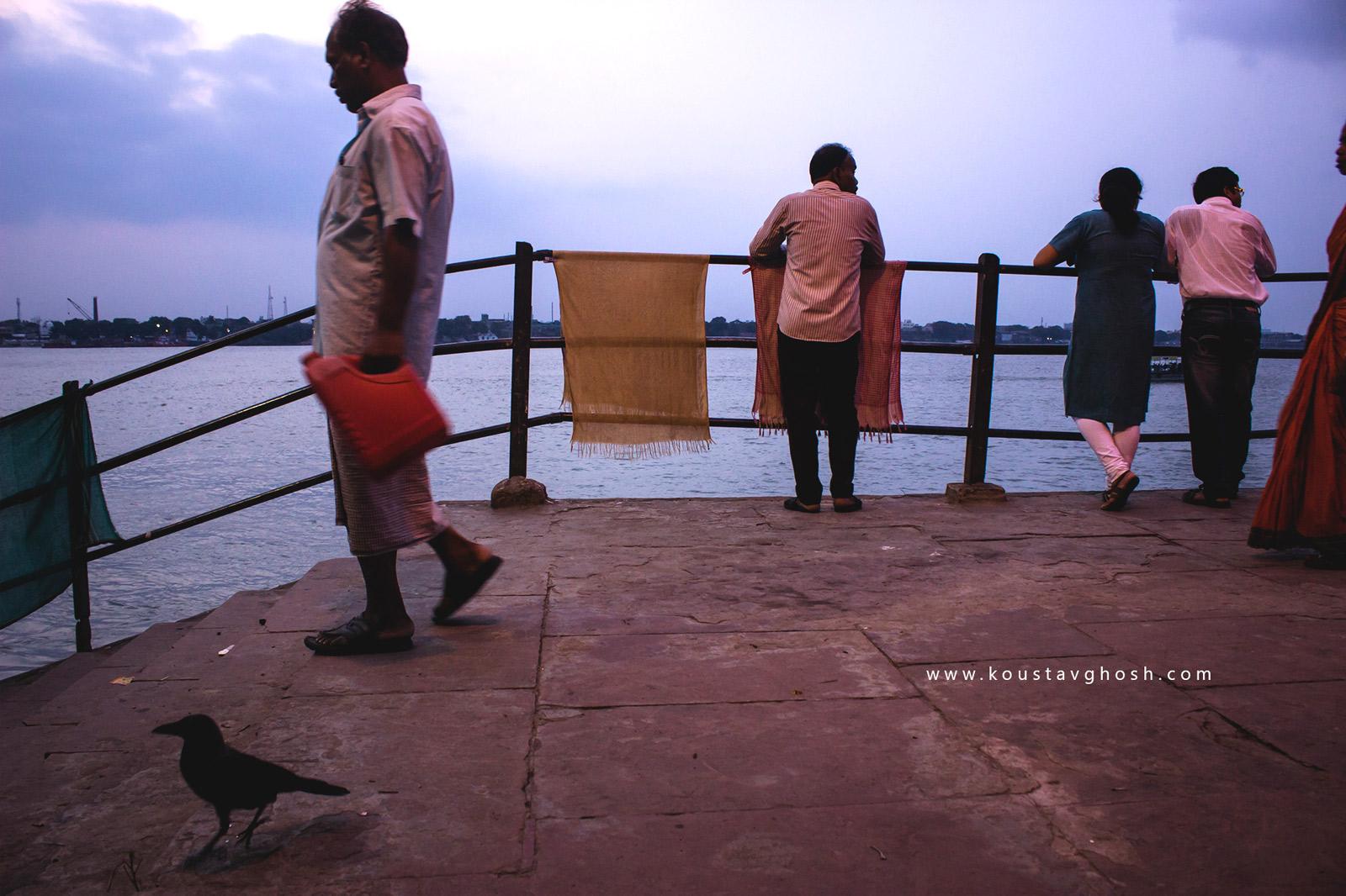 People in Koomertuli Ghat