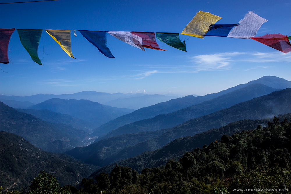 A view of the valley from Ravangla