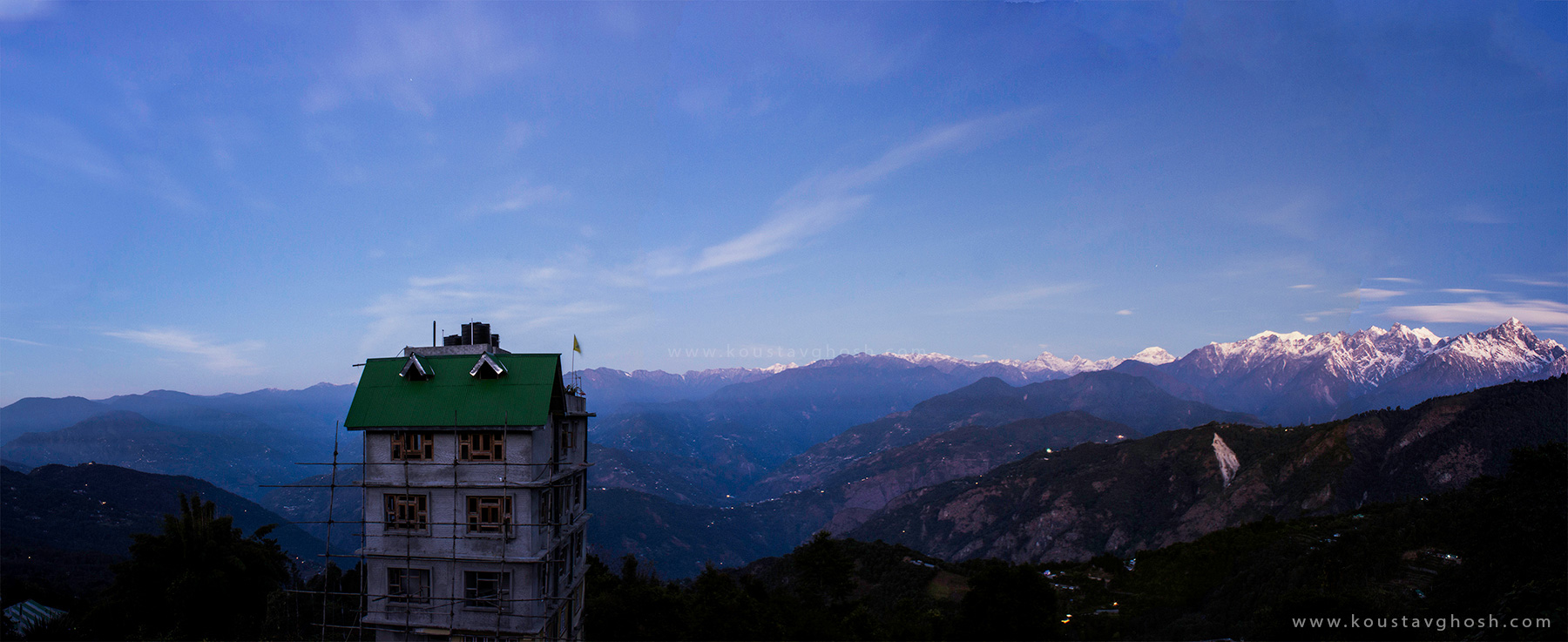 A panoramic view from Ravangla