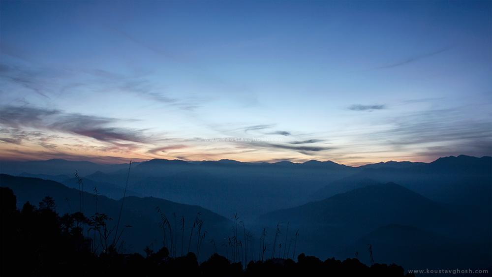Till we meet again. A view of the valley from Ravangla.