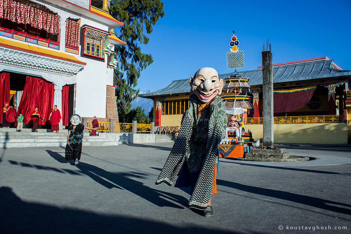 Little Monks performing Cham Dance at Ralang