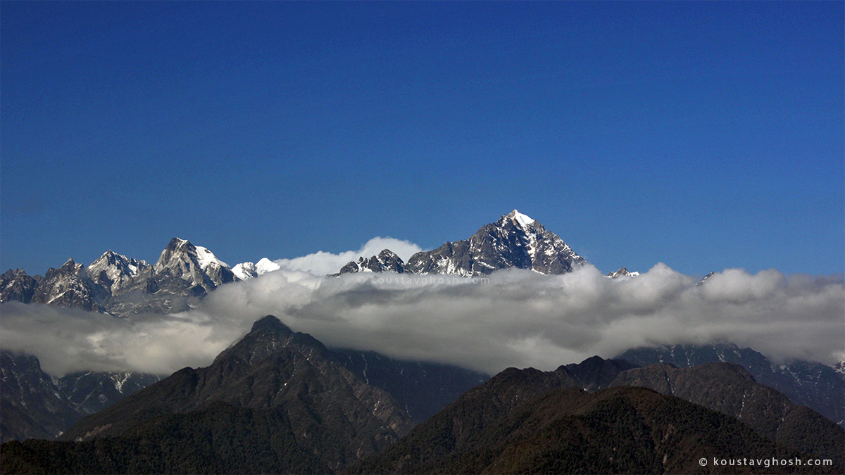 A view of Kanchenjunga from Ralang