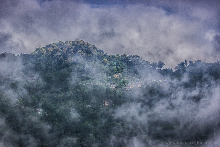 A misty morning in Gangtok