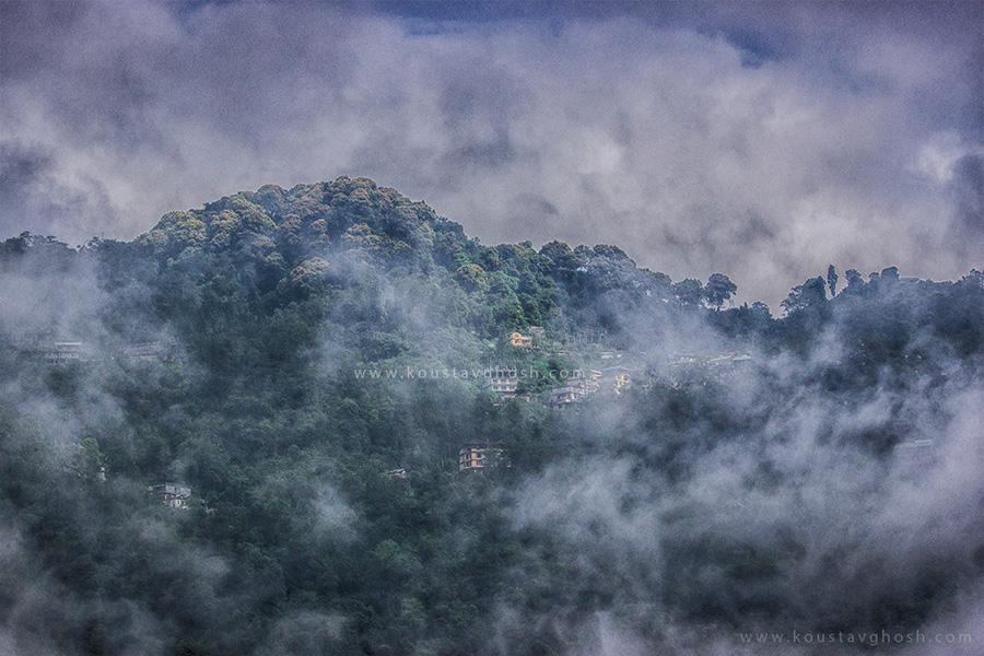 A misty morning in Gangtok