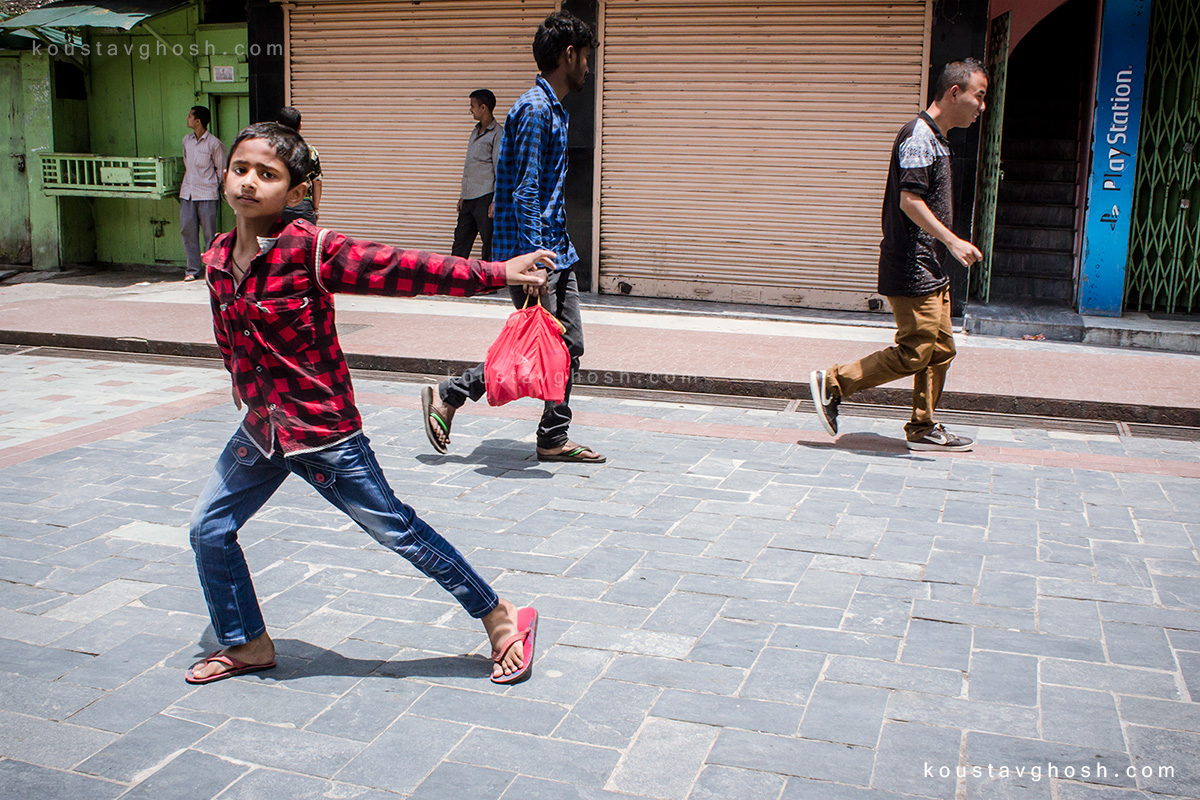 Children playing at MG Marg