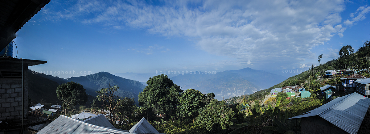 A panoramic view from my home stay of Ichhegaon