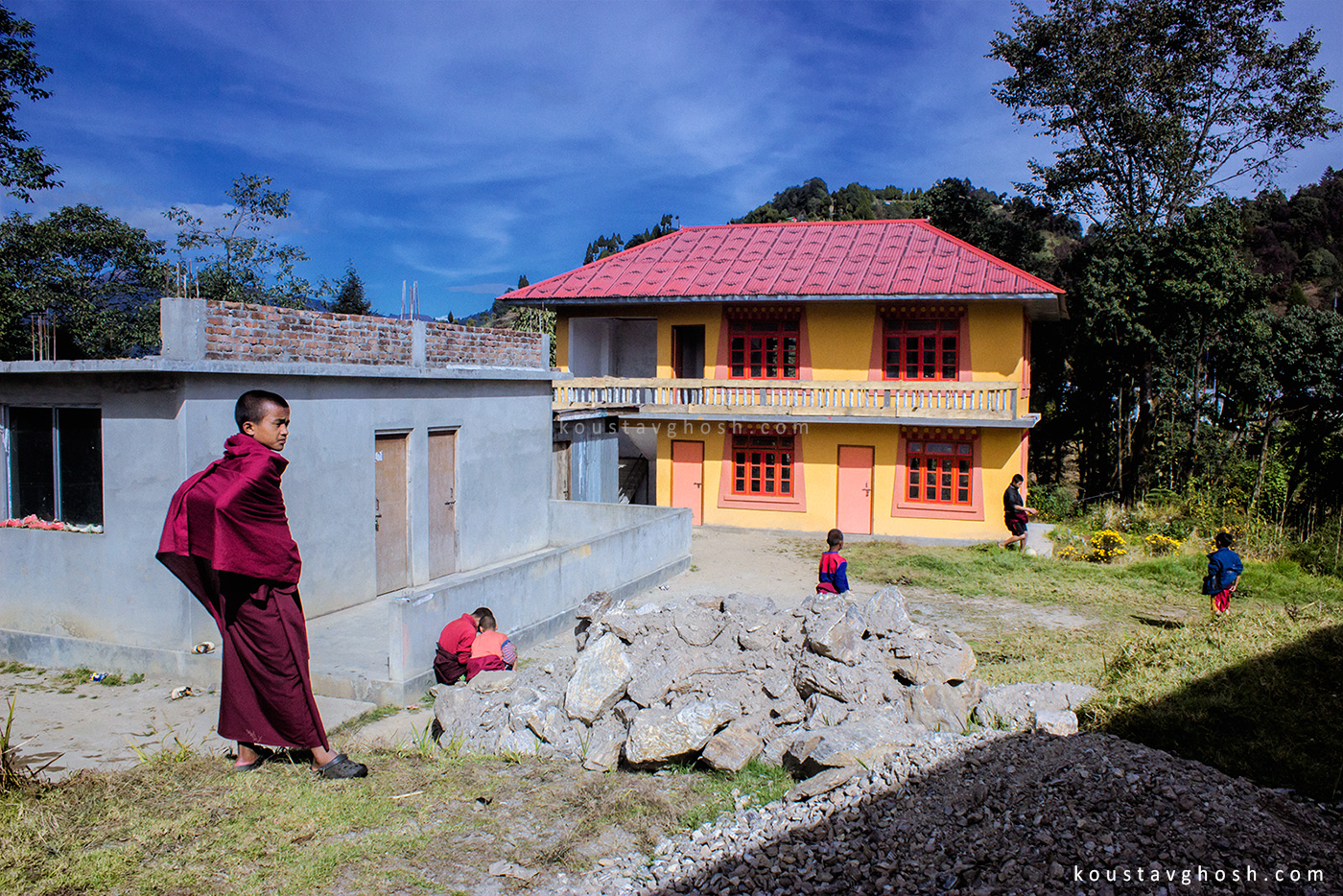 Before leaving Okhrey, Bandhu took me to another monastery.