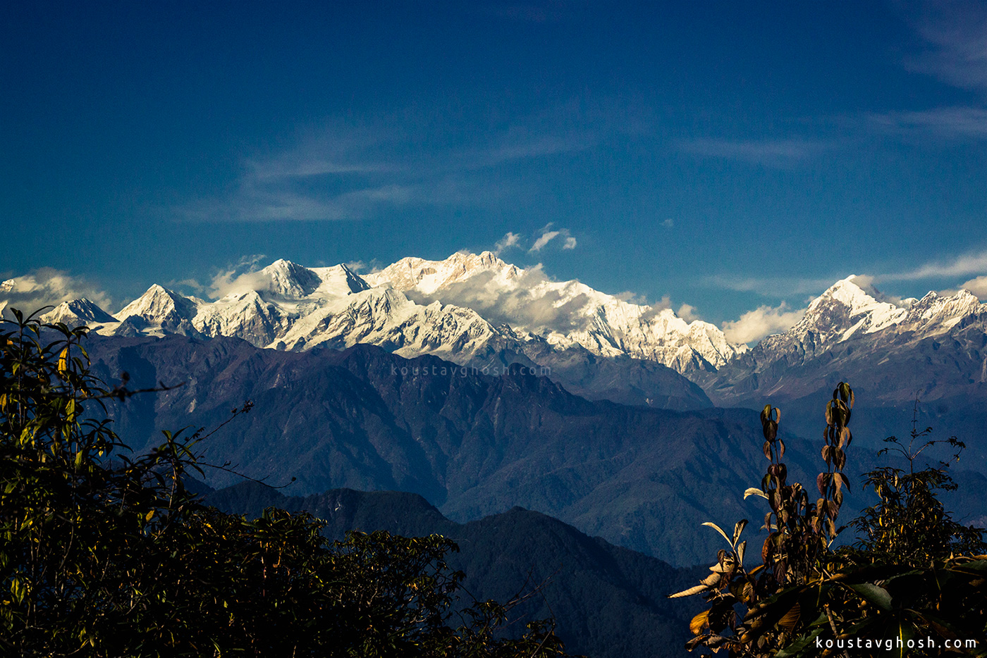 I was standing in front of the third highest mountain in the world, the Kanchenjungha