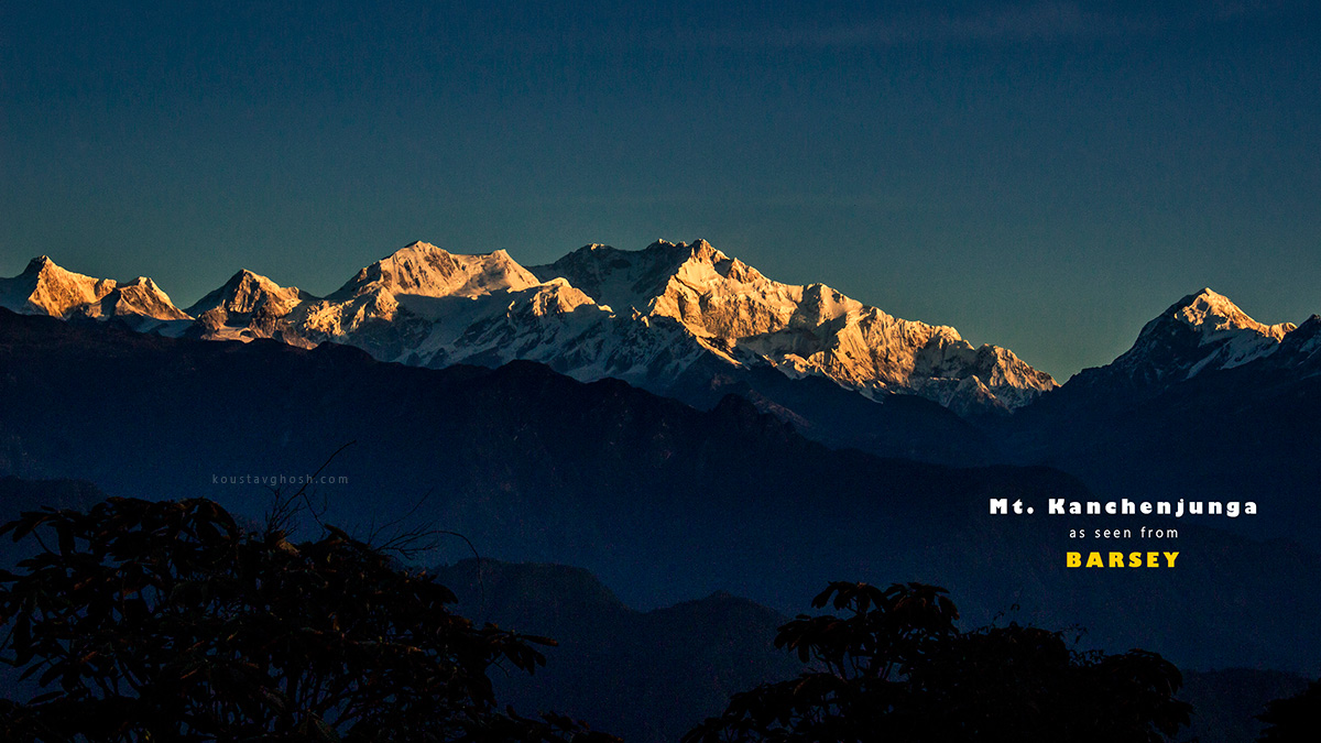 The grandeur of Kanchenjunga became even greater at this moment